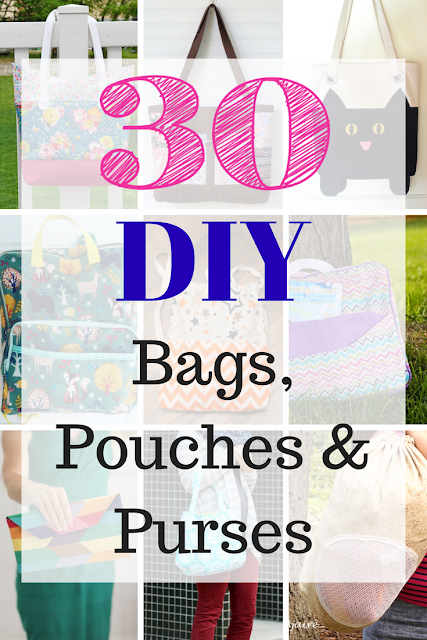 Looking to sew a purse, bag or pouch?  Check out this great list of over 20 sewing patterns for bags, pouches, purses and wallets for kids and adults.  Great for gifts, birthdays or school.