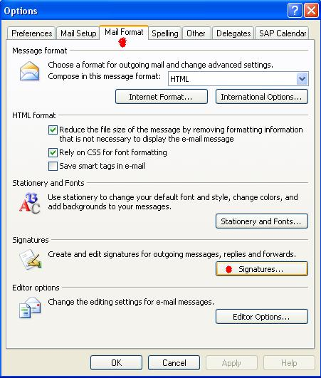 Technical Support Add A Signature To Your Email In Outlook