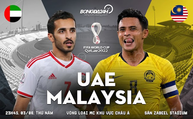 Trực tiếp bóng đá UAE vs Malaysia (c cạnh tranh giành tấm vé đi tiếp ở )
