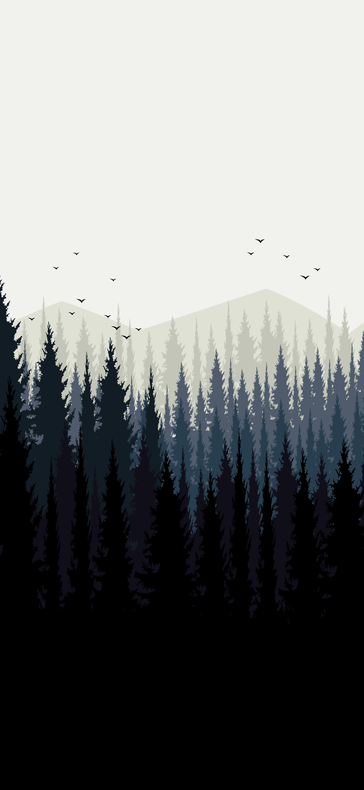 forest landscape minimalistic