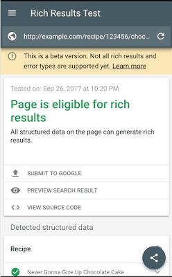 dụng cụ để test rich results