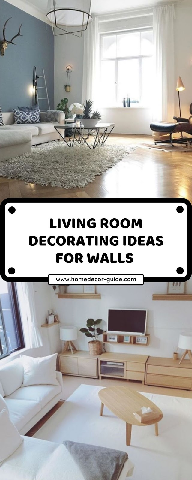 LIVING ROOM DECORATING IDEAS FOR WALLS