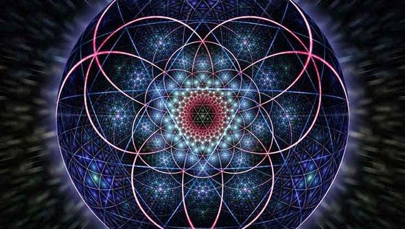 dibujo de la geometría sagrada de la nueva era