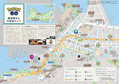 A previous game tie-in: Pokemon GO map of Yokosuka