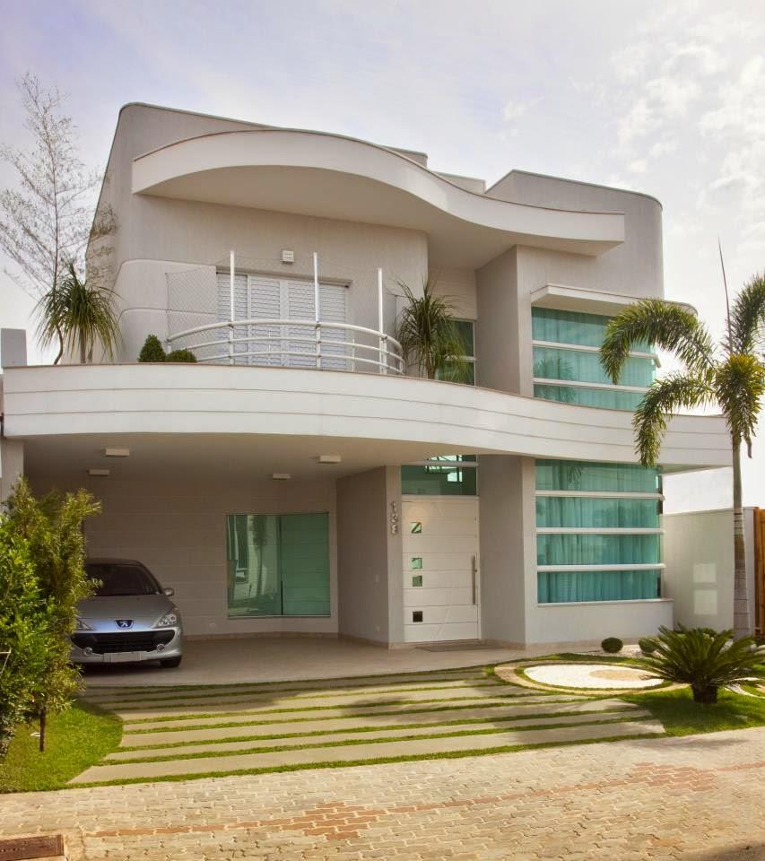 Construindo minha casa clean fachadas de casa com cores for Pisos para exteriores modernos