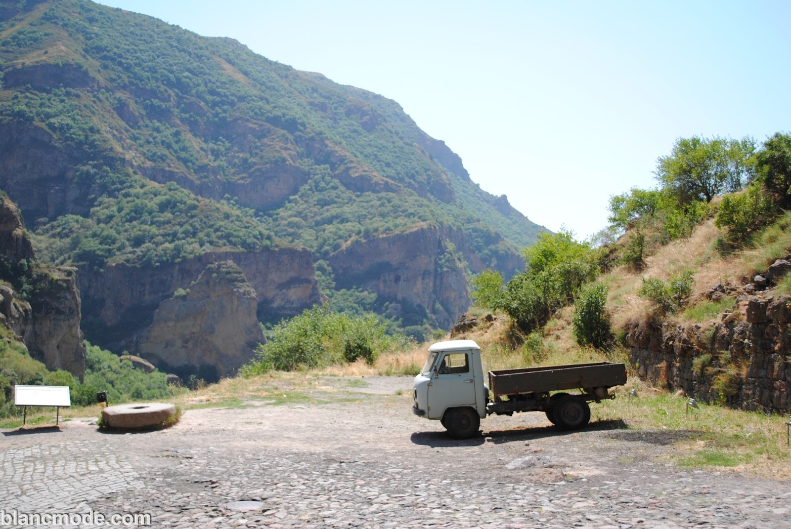 geghard monastery mountainous views