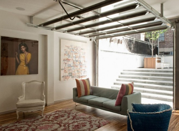 I Love How They Have Incorporated Garage Doors Into Their Manhattan Town  House. Talk About Bringing The Outdoors In!