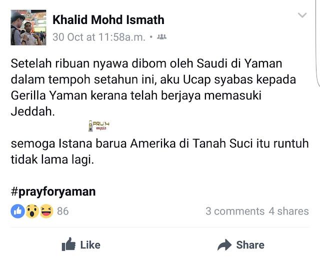 Penyokong Syiah Malaysia Sokong Pemberontak Yaman Serang Arab Saudi