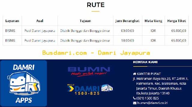 Damri Jayapura Rute Sarmi, Distrik Bonggo & Bandara Sentani