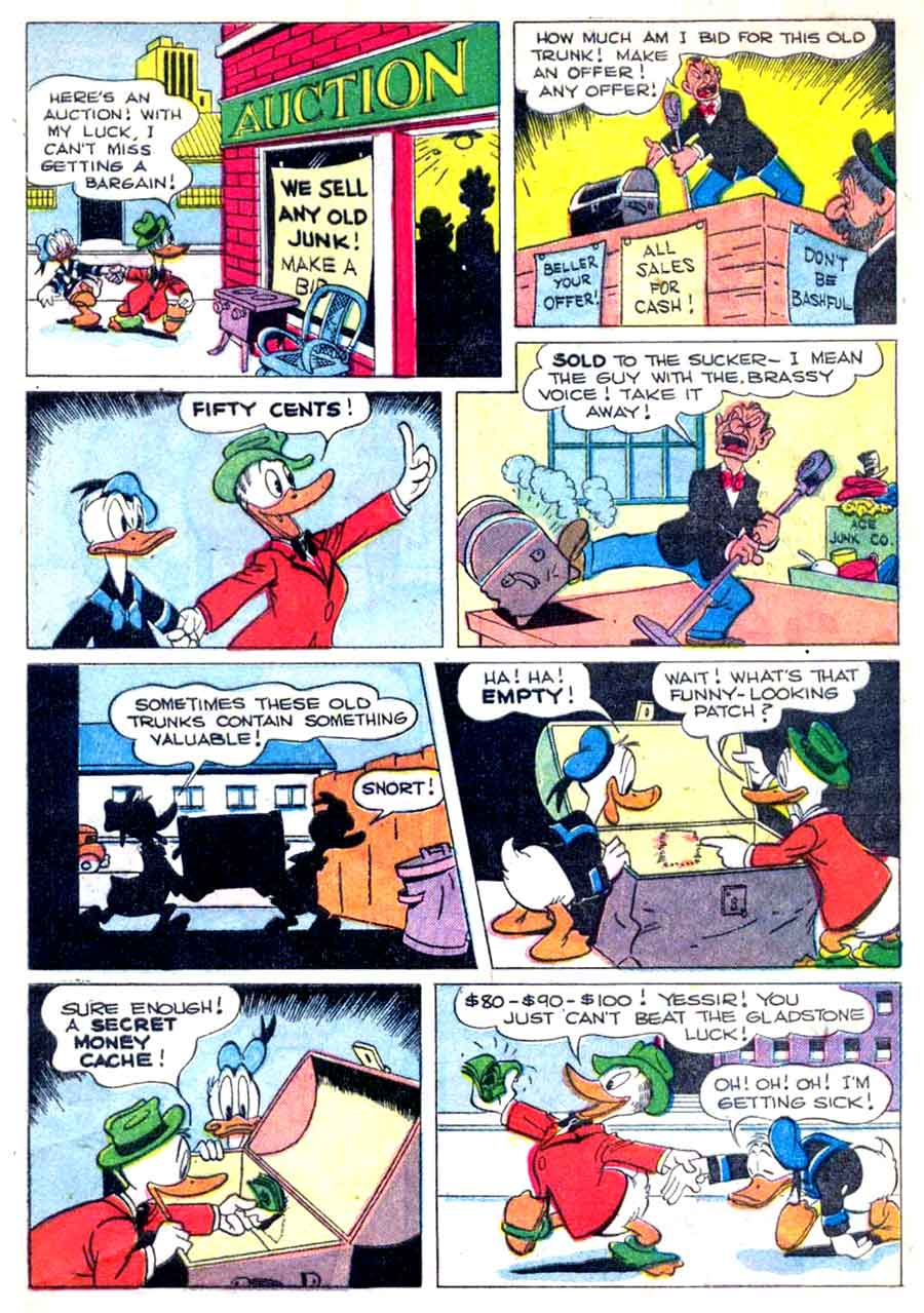 Donald Duck / Four Color Comics v2 #256 - Carl Barks 1940s comic book page art