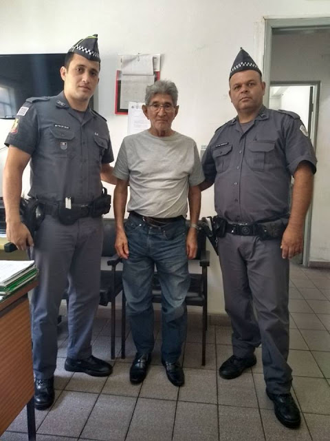 POLICIAIS MILITARES DE REGISTRO-SP LOCALIZAM IDOSO DESAPARECIDO DA CIDADE DE SÃO PAULO