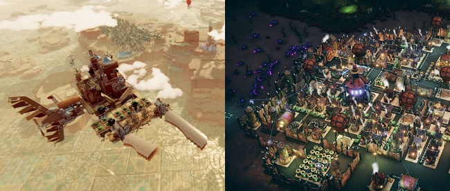 Differences: Airborne Kingdom vs Dream Engines Nomad Cities