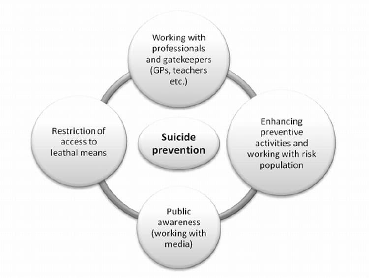 prevenirea suicidului sinuciderii elemente