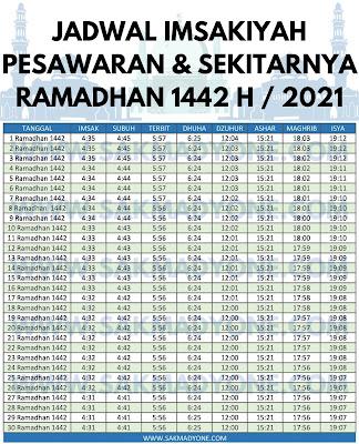 Jadwal imsakiyah ramadhan 2021 pesawaran