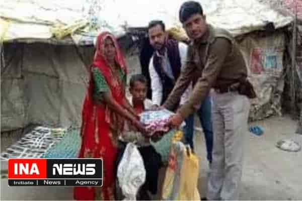भगवंतपुर की गरीब चमेली की मदद कर सिपाही राजीव ने पेश की मानवता की मिशाल