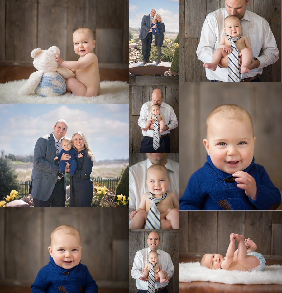 Nine Month Baby Boy Milestone Photos Northern Illinois photographer