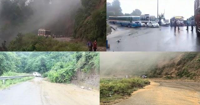 हिमाचल में जारी बारिश का दौर: अभी 2 दिन और मुसीबत, कार पर गिरे पत्थर- भूस्खलन से रास्ता बंद