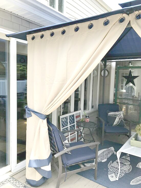 DIY outdoor gazebo curtains