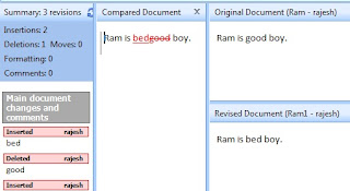 How to Compare Two Ms Word File in Hindi