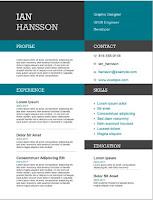 Color block resume