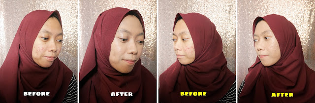 Before After Pakai Cushion Wardah