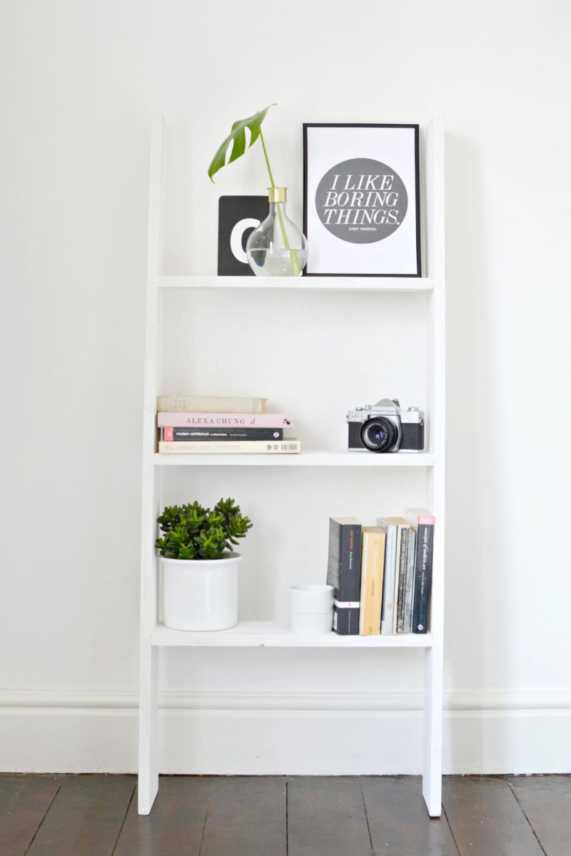 DIY Ladder Shelf