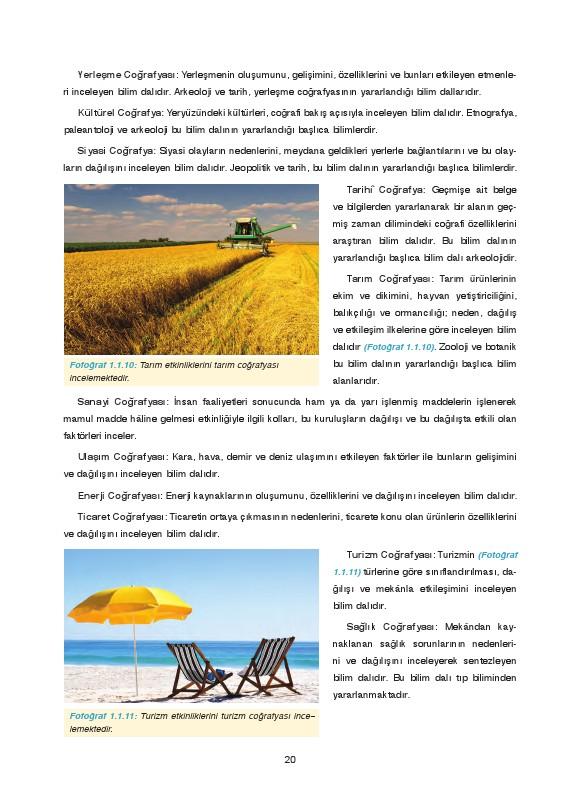 9. Sınıf Coğrafya Ders Kitabı Cevapları Fersa Yayınları Sayfa 20