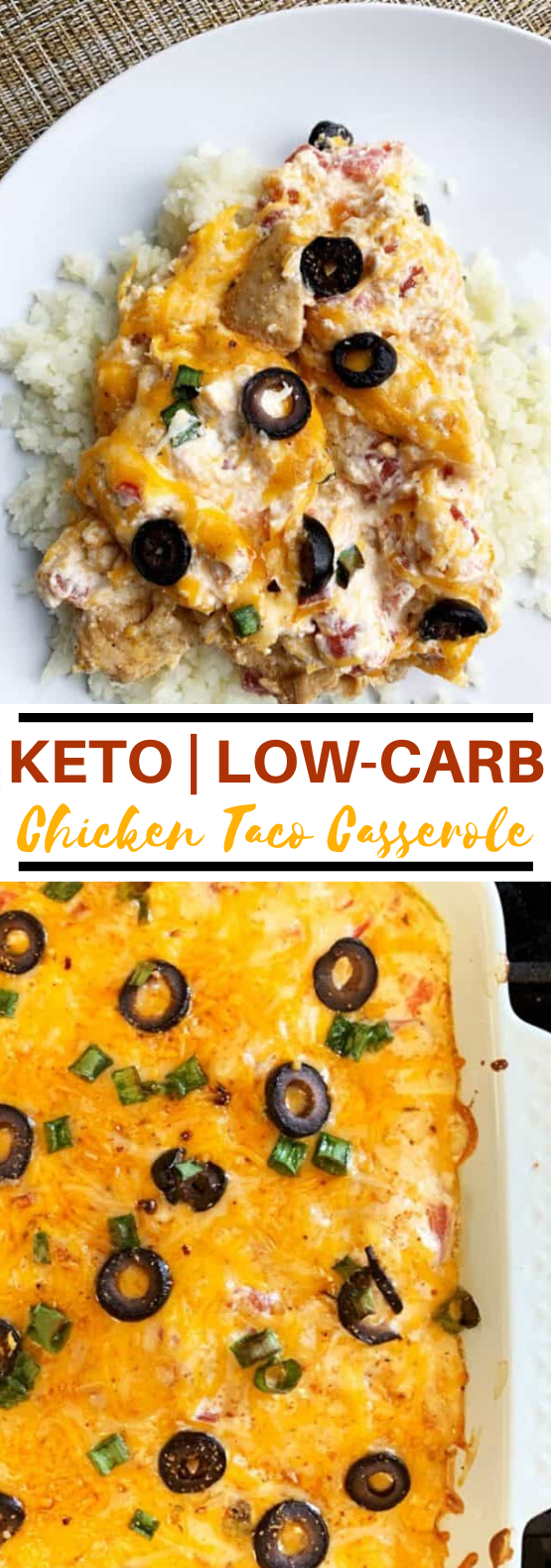 KETO CHICKEN TACO CASSEROLE #lowcarb #dinner #keto #diet #casserole