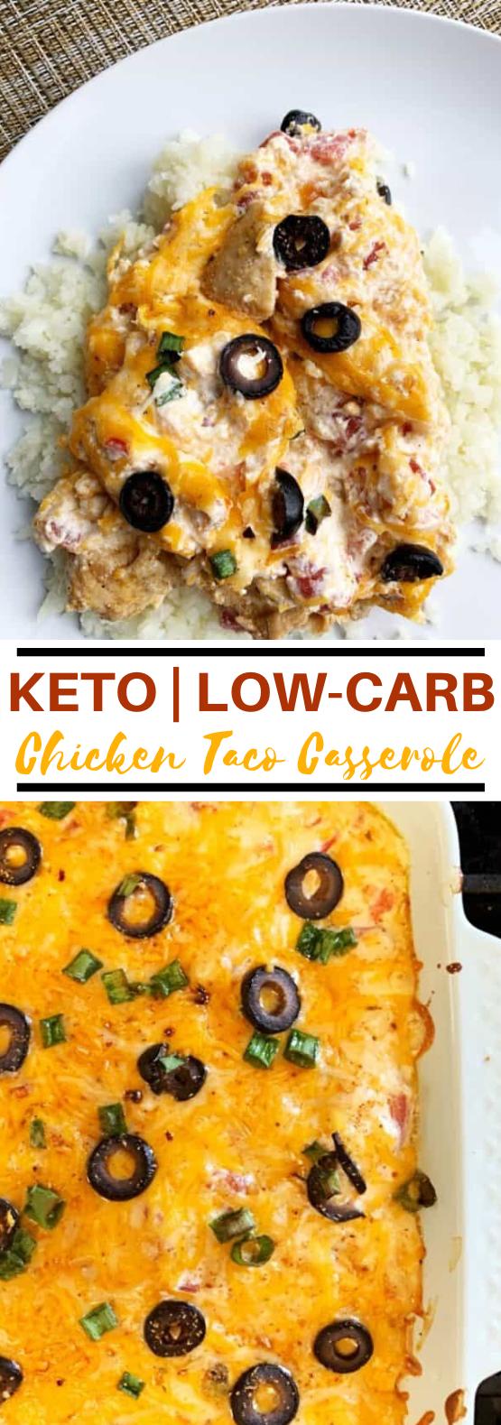 KETO CHICKEN TACO CASSEROLE #lowcarb #dinner #keto #diet #casserole