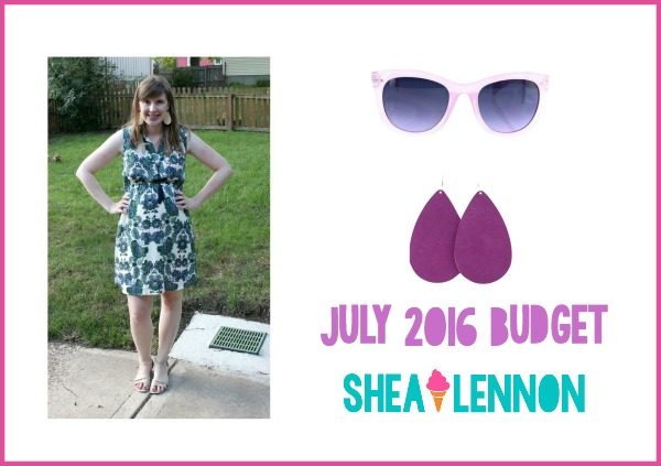 Clothing budget for July - what I saved on, what I splurged on | www.shealennon.com