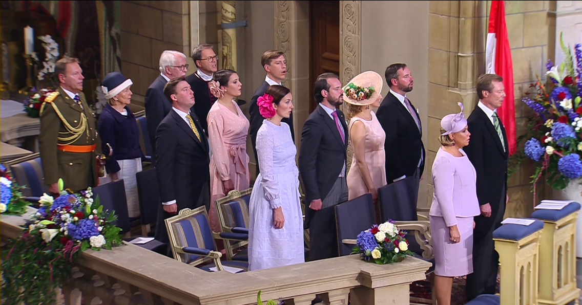 Grand Ducal Family Attends Te Deum