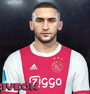 PES 2018 Faces Hakim Ziyech by Prince Hamiz