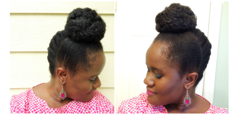 French Braided Bun On Natural Hair Chic From Hair 2 Toe