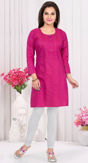 Magneta Cotton Linen Printed Casual Kurti