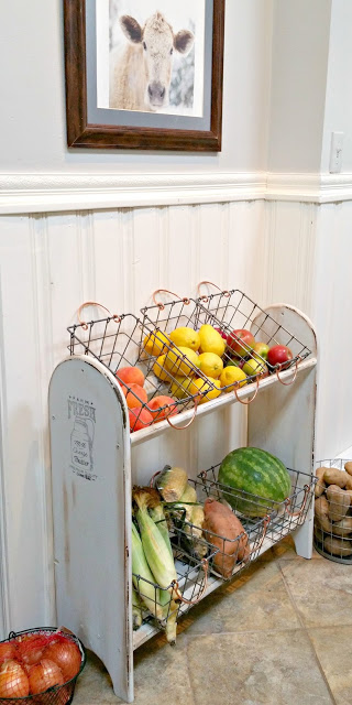 farmhouse kitchen vegetable bin
