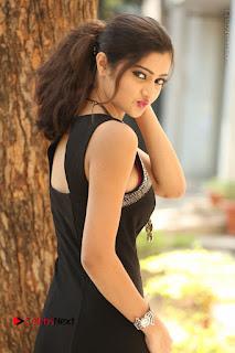 Actress Poojitha Pallavi Naidu Stills in Black Short Dress at Inkenti Nuvve Cheppu Movie Platinum Disc Function  0128.JPG