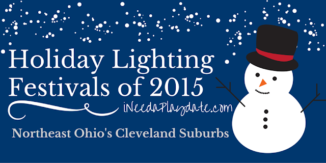 2015 Holiday Lighting Ceremonies in Northeast Ohio + Cleveland Suburbs