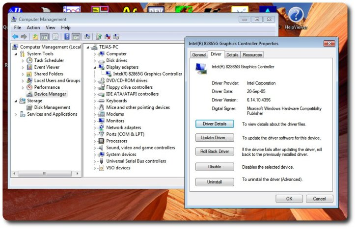 intel(r) 82865g graphics controller windows 7