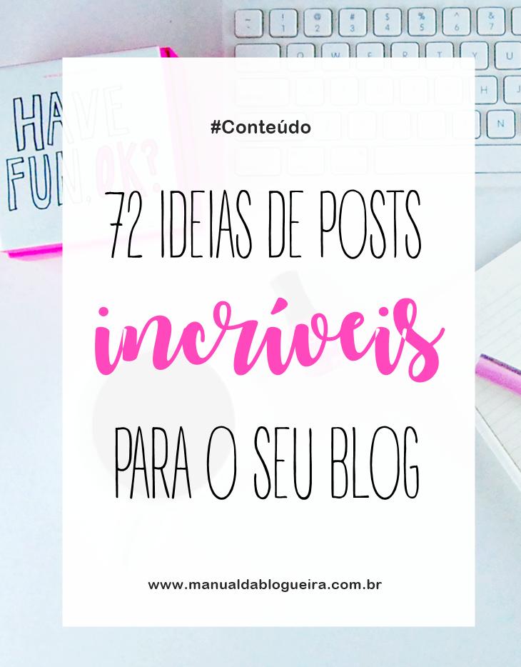 ideias de posts para o blog