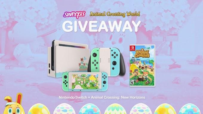 SORTEIO de Um Video Game Nintendo Switch + o Jogo Animal Crossing: New Horizons