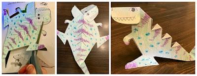 Dinosaur craft, dinosaur storytime