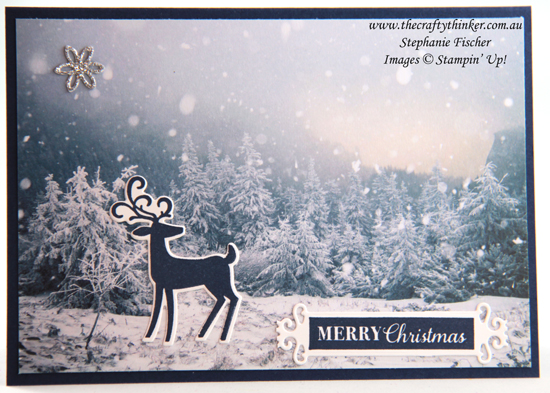 #thecraftythinker #stampinup #cardmaking #christmascard #feelslikefrost #dashingdeer , Feels Like Frost SDSP, Christmas cards, Stampin' Up Demonstrator Stephanie Fischer, Sydney NSW