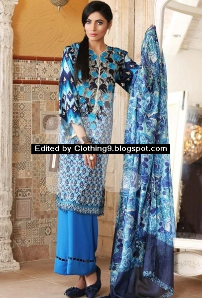 Nishat Linen Spring Silk Collection 2016 Prices