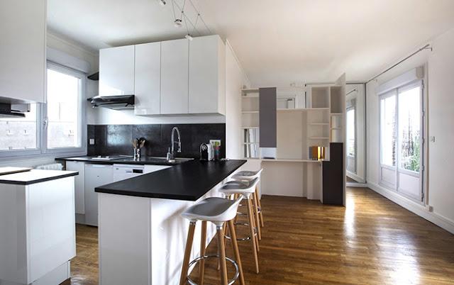 Ouverture cuisine pièce à vivre