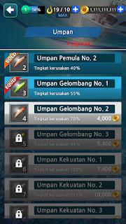 membuka unlock umpan Fishing Hook Mod Apk