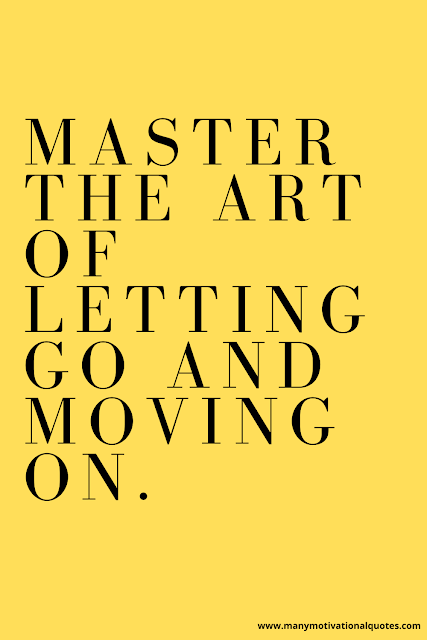 Moving on can be a powerful gift on the road to happiness.