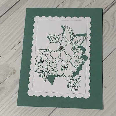 Floral handmade get well card using Stampin' Up! Hand-Penned Petals Bundle