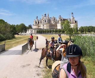 Ratsastusvaellus Loiren laaksossa johti Chambordin linnaan