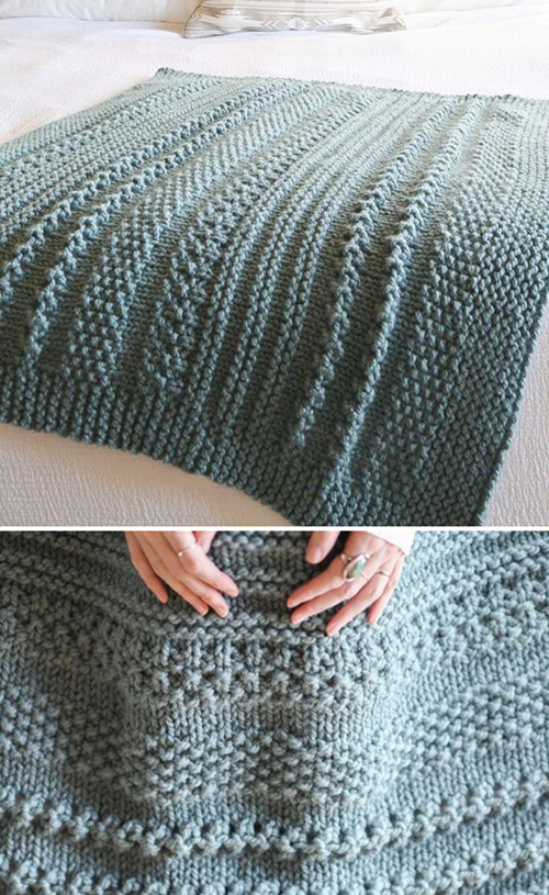 Easy Cuddler Throw Blanket - Free Pattern