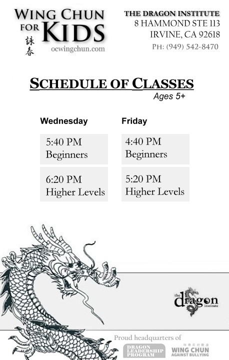 irvine martial arts classes for kids